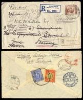 BC - East Africa. 1921. BRITISH EAST AFRICA - SWEDEN - ITALY. Registered Envelope To Stockholm, Sweden, Franked 15c. + 2 - Unclassified