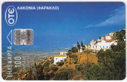 GREECE C-143 Chip OTE - View, Village - Used - Griechenland
