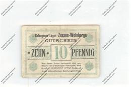BANKNOTE - DEUTSCHLAND / GERMANY, POW, Gefangenen-Lager Zossen-Weinberge, 10 Pfennig, VF - Verrechnungsscheine - Dt. Wehrmacht