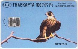 GREECE C-244 Chip OTE - Animal, Bird, Eagle / Animal, Bird, Stork - Used - Griechenland