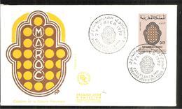 FDC 1972 Création De La Loterie Nationale - Marruecos (1956-...)