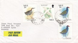 BIRDS ON COVER NIUE - Niue