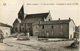 VERPEL.  La Place De La Mairie, Le Monument Du Souvenir - Francia