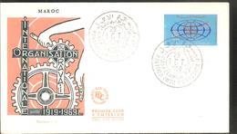 FDC 1969 Organisation  Du Travail - Marruecos (1956-...)