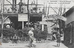 """95 - Val D'oise - Sannois Entrée Du Bosquet """"les Becs Salés """" Grand Moulin De La Terrasse Entrée Du Père La Galette 1910 - Sannois"""