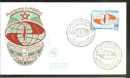 FDC 1969 Semaine Mondiale De La Palestine - Marruecos (1956-...)