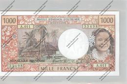 BANKNOTE - TAHITI / PAPETE, Pick 27d, 1000 Francs, 1985, UNC. - Papeete (Polynésie Française 1914-1985)