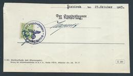 """Gebührenmarke Diekirch - 30 Rpf Stempel """"Der Standesbeamte Standesamt Diekirch"""" (23-10-1943) - Steuermarken"""