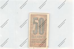 BANKNOTE - HRVATSKA / KROATIEN, Pick 6, 50 Banica, VF - Croatia