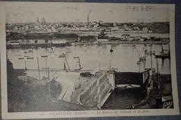 50 Manche CPA Granville La Forme De Radoub Et Le Port - Granville