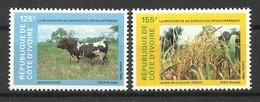 IVORY COAST 1986  RESEARCH & DEVELOPMENT,CATTLE  MNH - Ivoorkust (1960-...)