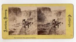 Y4804/ Construction Train Passing The Palisades California USA Eisenbahn Ca.1900 - Stati Uniti
