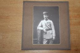 Photo Militaire 1914 1918 Officier Du 61 RA  Croix De Guerre Avec 10 Citations WWI - Guerra, Militari