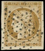 EMISSION DE 1849 - 1    10c. Bistre-jaune, Oblitéré ETOILE, TB - 1849-1850 Cérès