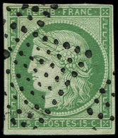 EMISSION DE 1849 - 2    15c. Vert, Oblitéré Losange De 81 Pts, TB - 1849-1850 Cérès