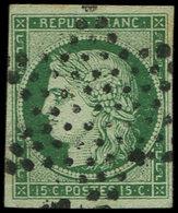 EMISSION DE 1849 - 2b   15c. Vert Foncé, Obl. ETOILE, TTB - 1849-1850 Cérès