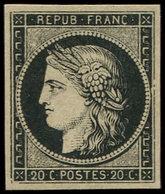 (*) EMISSION DE 1849 - 3    20c. Noir Sur Jaune, Très Frais, TB - 1849-1850 Cérès