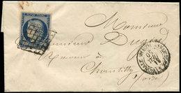 Let EMISSION DE 1849 - 4    25c. Bleu, Obl. GRILLE S. LSC, Càd ASSEMBLEE NATIONALE 31/12/50, TB - 1849-1850 Cérès