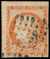 EMISSION DE 1849 - 5    40c. Orange, 2 Grandes Marges (3 Amorces De Voisins) Obl. DS2, TB. C - 1849-1850 Cérès