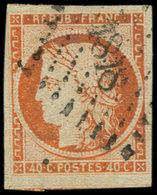 EMISSION DE 1849 - 5    40c. Orange, Voisin En Bas, Oblitéré PC 1818, TB - 1849-1850 Cérès