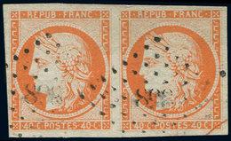 EMISSION DE 1849 - 5    40c. Orange, PAIRE Obl. PC 898, TB/TTB. C - 1849-1850 Cérès