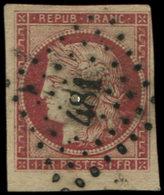 EMISSION DE 1849 - 6     1f. Carmin, Obl. PC 481, Petit Bdf, TB - 1849-1850 Cérès