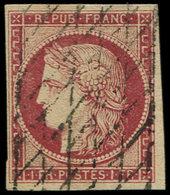 EMISSION DE 1849 - 6     1f. Carmin, Oblitéré GRILLE SANS FIN, TTB - 1849-1850 Cérès