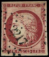 EMISSION DE 1849 - 6     1f. Carmin, Oblitéré PC 2217, TB - 1849-1850 Cérès