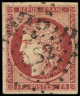 EMISSION DE 1849 - 6     1f. Carmin, Oblitéré Losange DS2, TB - 1849-1850 Cérès