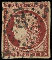 EMISSION DE 1849 - 6     1f. Carmin, Oblitéré PC 1727, TB - 1849-1850 Cérès