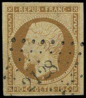 PRESIDENCE - 9    10c. Bistre Jaune, Obl. PC 2128, TTB. S - 1852 Louis-Napoléon