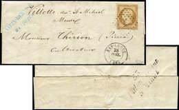 Let PRESIDENCE - 9    10c. Bistre-jaune, Obl. PC 248 S. LAC, Càd T15 BAR LE DUC 28/7/(53), Au Verso Cursive 53/VILLOTTE- - 1852 Louis-Napoléon