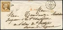 Let PRESIDENCE - 9    10c. Bistre Jaune, Obl. ETOILE S. LSC, Càd PARIS 1/11/53, TTB - 1852 Louis-Napoléon