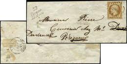 Let PRESIDENCE - 9    10c. Bistre-jaune, Obl. PC 2983 S. LSC, Cursive 23/TOCANE/ST APRE, Arr. Perpignan Le 16/6/54, TB - 1852 Louis-Napoléon