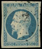 PRESIDENCE - 10   25c. Bleu, Obl. PC, TB/TTB - 1852 Louis-Napoléon