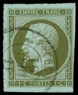 EMPIRE NON DENTELE - 11    1c. Olive, 3 Belles Marges, Oblitéré Càd 11/12/61, TB - 1853-1860 Napoléon III