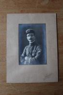 Photo Militaire 1914 1918 Officier Du 61 RA  Croix De Guerre  Et Chevrons De Présence Au Front WW1 - Krieg, Militär