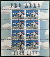 1988 50 Jahre Pro Aero Kleinbogen MiNr: 1369 - Blocks & Sheetlets & Panes
