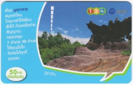THAILAND F-708 Prepaid 1-2-Call - Landscape, Rock - Used - Thaïland