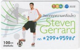 THAILAND F-709 Prepaid 1-2-Call - Sport, Soccer, Steven Gerrard - Used - Thaïland
