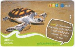 THAILAND F-725 Prepaid 1-2-Call - Animal, Sea Life, Turtle - Used - Thaïland