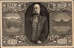 Entier Postal Artiste Cp Kaiser Franz Joseph I., Jubiläum 1908 - Koninklijke Families
