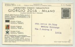 FERRARA - RAVENNA CARTINA  1935  - PUBBLICITARIA GIORGIO  ZOJA  MILANO - FP - Ferrara