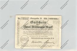 BANKNOTE - DEUTSCHLAND / GERMANY, Notgeld, 1923, Konstanz, HIAG, 2 Millionen Mark - [11] Emissioni Locali