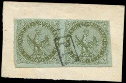Colonies Générales - 1     1c. Olive, PAIRE Obl. P.P. Encadré Sur Fragt, TB - France (ex-colonies & Protectorats)