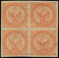* Colonies Générales - 5    40c. Vermillon, BLOC De 4, TB - France (ex-colonies & Protectorats)