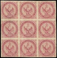 ** Colonies Générales - 6    80c. Rose, BLOC De 9, La Bande De 3 Sup. Est *, Frais Et TB. C Et Br - France (ex-colonies & Protectorats)