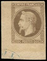 * Colonies Générales - 9    30c. Brun-gris, Cdf Avec Contrôle TP (partiel), TTB - France (ex-colonies & Protectorats)