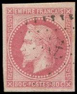 Colonies Générales - 10   80c. Rose, Obl. ANCRE, Frappe Légère, TTB/Superbe - France (ex-colonies & Protectorats)
