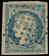 Colonies Générales - 12   20c. Bleu, Obl. Los. De 64 Pts, TB - France (ex-colonies & Protectorats)